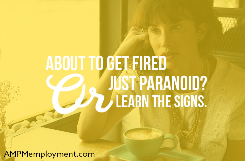 About to Get Fired or Just Paranoid? Learn the Signs. - The image shows a girl sitting at the table drinking coffee and thinking
