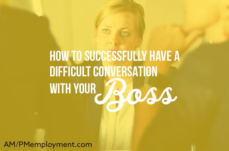 How to Successfully Have a Difficult Conversation with Your Boss - the image shows a blonde woman in the meeting